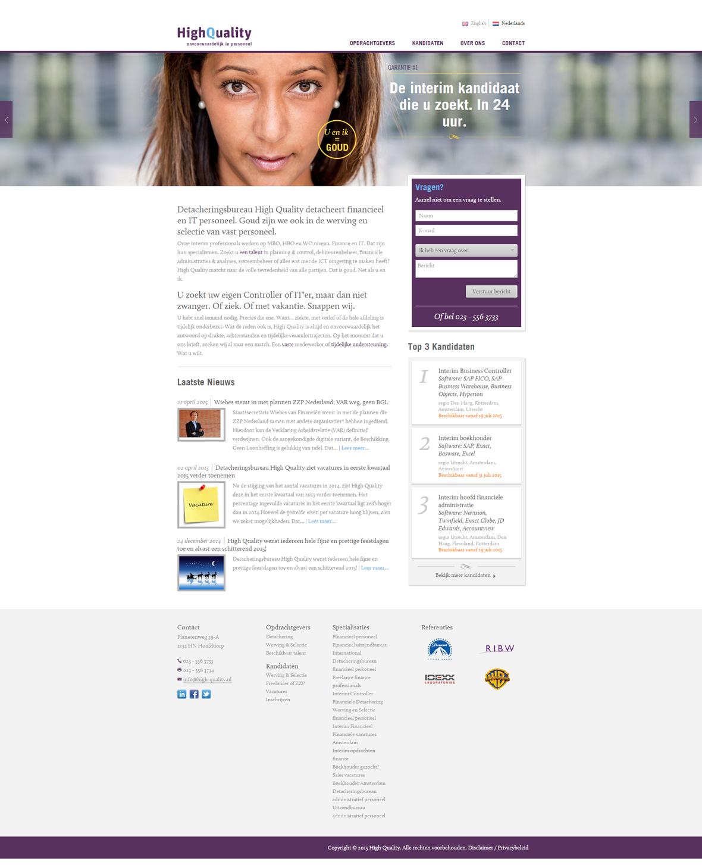 Screenshot High uality homepage